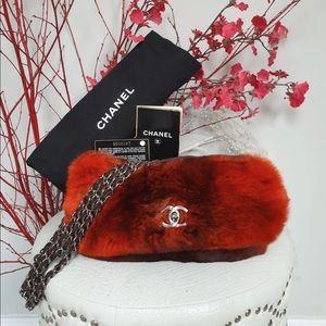 💯 Chanel Classic Bag No Flap Orange Rabbit